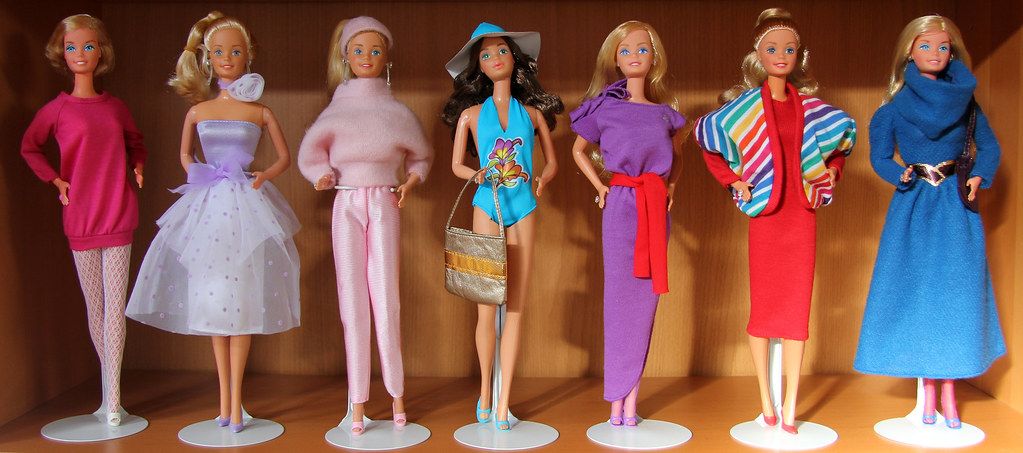 misc 80s barbie fashions pink mules ponies flickr