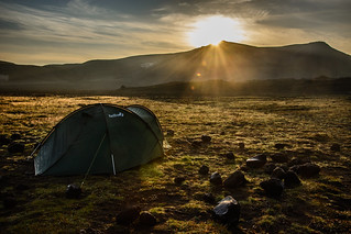 Tent in the morning sun | by kuhnmi