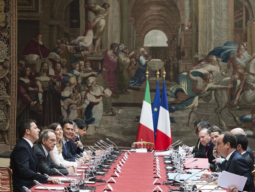 Renzi a parigi per il vertice italo francese parigi 24 for Parigi a febbraio