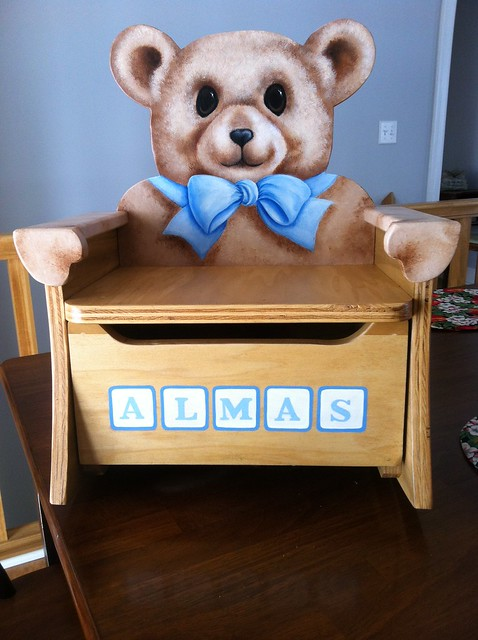 Teddy Bear Rocking Chair With A Pull Out Drawer Flickr