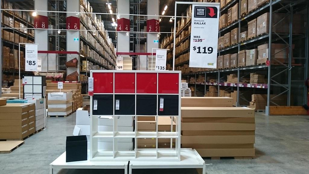 Kallax shelving unit 4x4 AUD119 - IKEA Springvale | Alpha ...