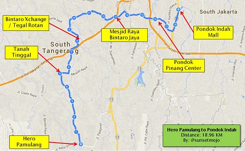 My Cycling Route: Hero Pamulang to Pondok Indah Mall | by sunsetmood