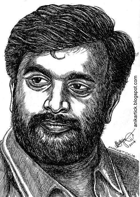 Director and Actor SASIKUMAR Portrait by Indian Artist Ani