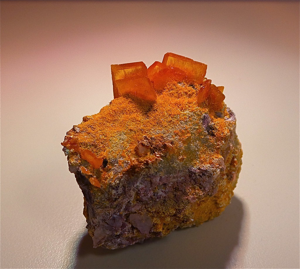 Wulfenite over Mimetite
