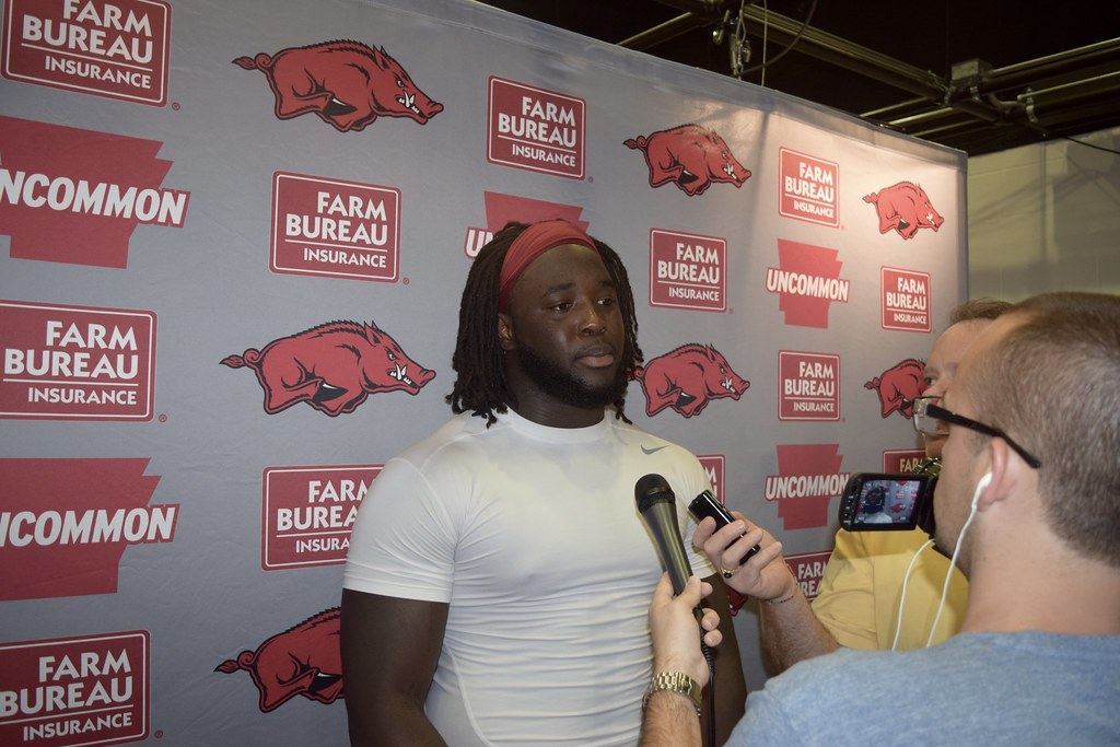 Arkansas football interviews, 8/12/16