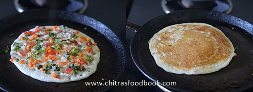 Vegetable uthappam recipe