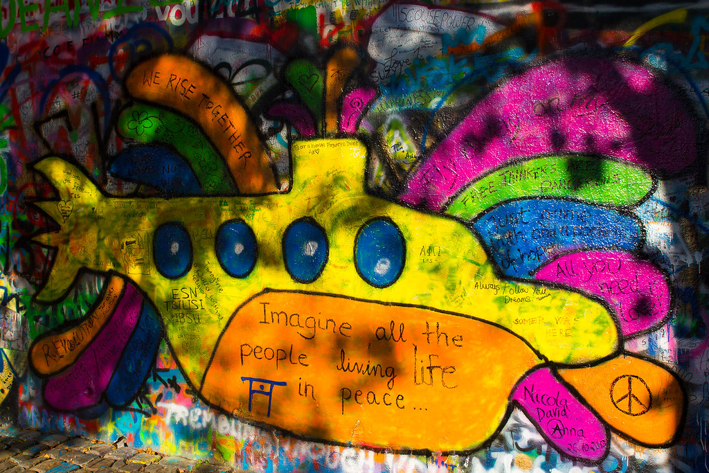Yellow Submarine - John Lennon Wall - Praha | Richard BURGER | Flickr