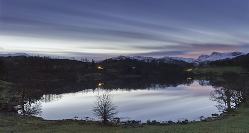Loughrigg tarn an hour after sunset | by singingsnapper