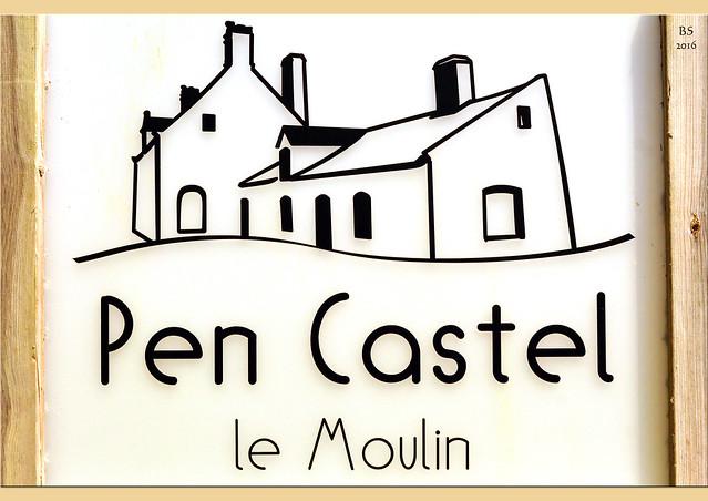 "Bretagne - Rhuys-Halbinsel - Gezeitenmühle ""Moulin de Pen Castel"" - Moulin à marée - Fotos und Fotocollagen: Brigitte Stolle 2016"