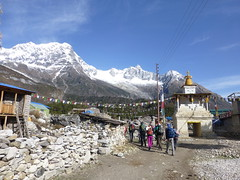 Leaving Sama Gompa