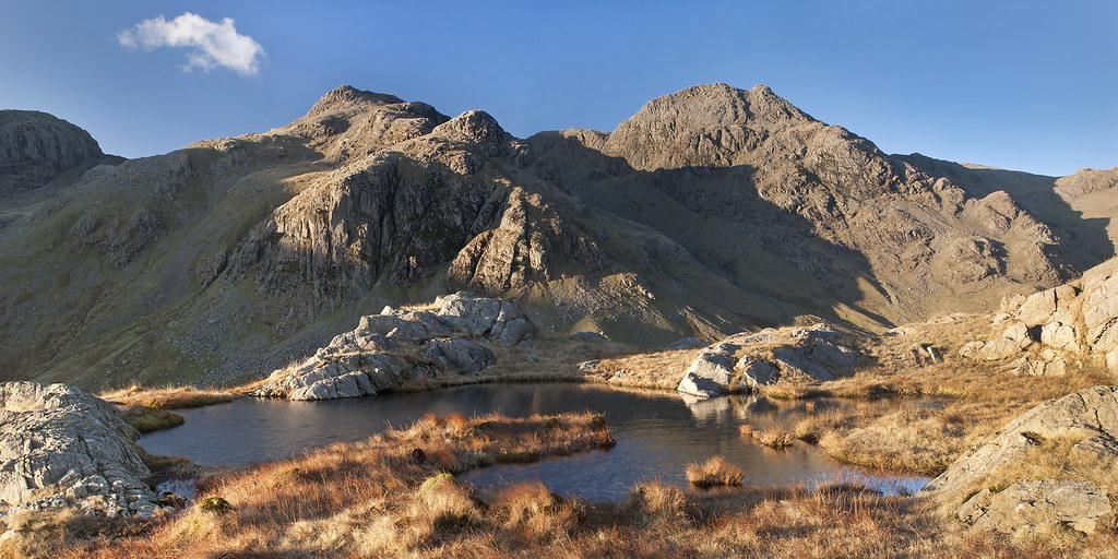 Scafell Pike And Ill Crag In Winter Sunshine A Nice