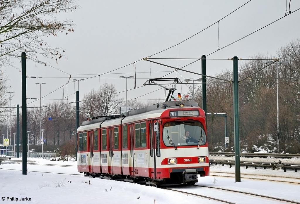 GT8S 3046 I [D] (Tram Düsseldorf) Südpark I 27.12.2010 | Flickr