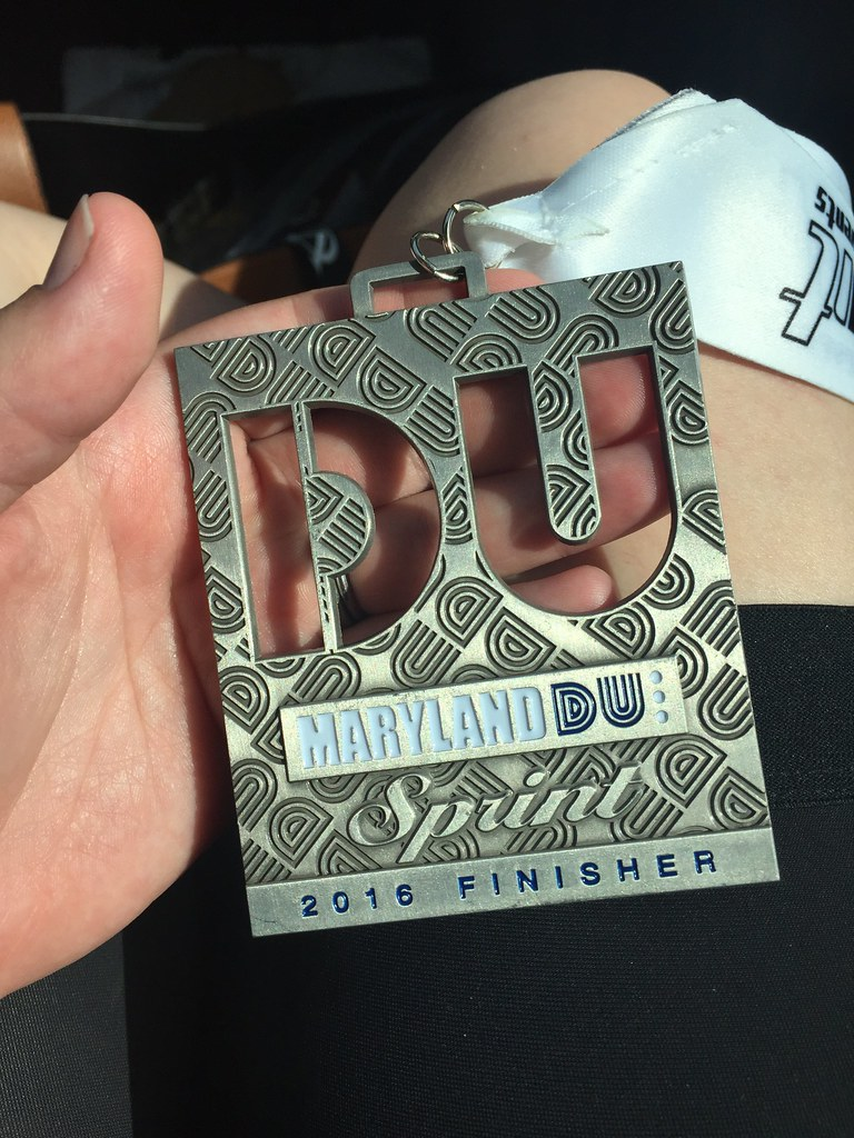 maryland sprint duathlon medal
