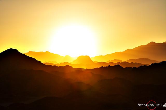 Sunset Over the Desert Mountains