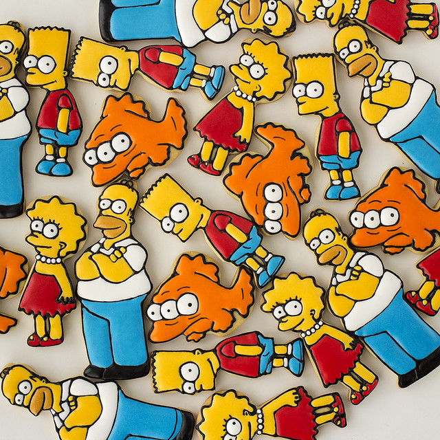 Galletas decoradas Los Simpsons