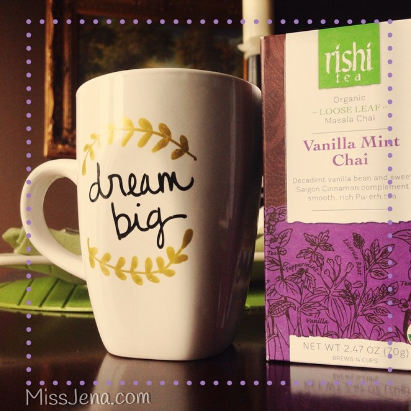 TEXAS WOMEN BLOGGERS MUG OF rischi vanilla chai tea latte