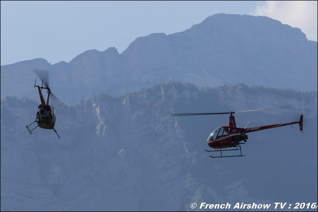 Tango Bleu , hélicoptère sportif , Robinson 22 R-22 ,F-GGKZ & F-GLYG ,Grenoble Air show 2016 , Aerodrome du versoud , Aeroclub du dauphine, grenoble airshow 2016, Rhone Alpes