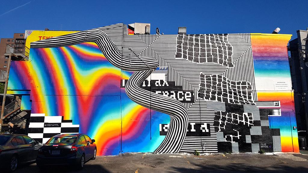 Felipe Pantone - Mural Festival, Montreal   Mural by ... Felipe Pantone