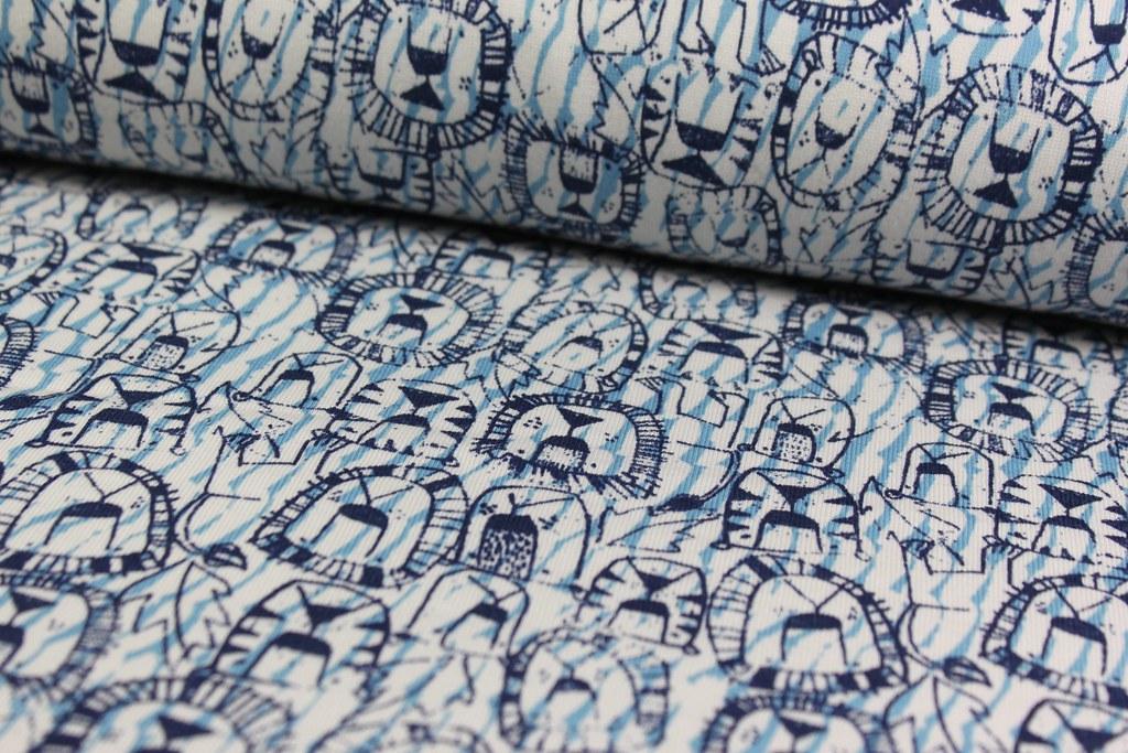 "Sweat Shirt ""Löwe"", blau"