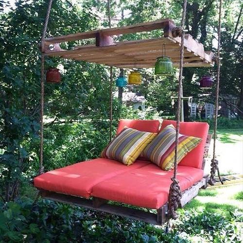 http://bit.ly/1pE1vNI | #palets #reciclar #jardín