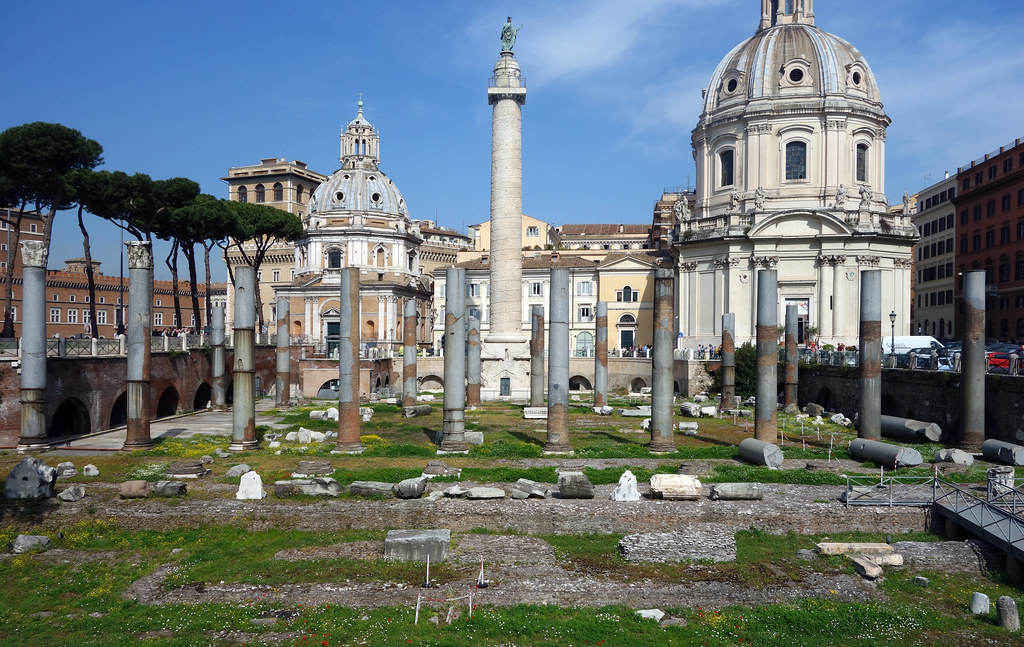 View Of Basilica Ulpia And Trajan S Column Apollodorus