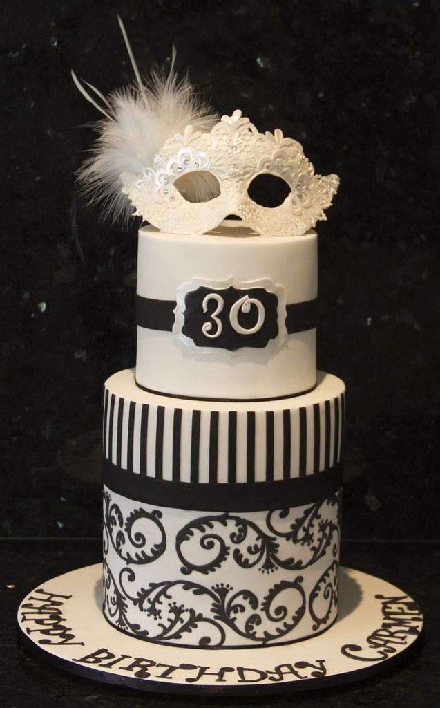Masquerade Birthday Cake Koula Kakopieros Flickr
