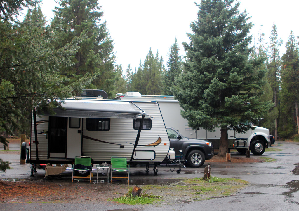 Rvs At Fishing Bridge Rv Park Fishing Bridge Rv Park
