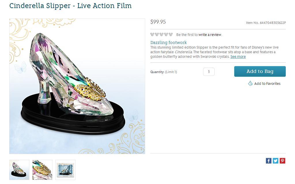 Cinderella Slipper Live