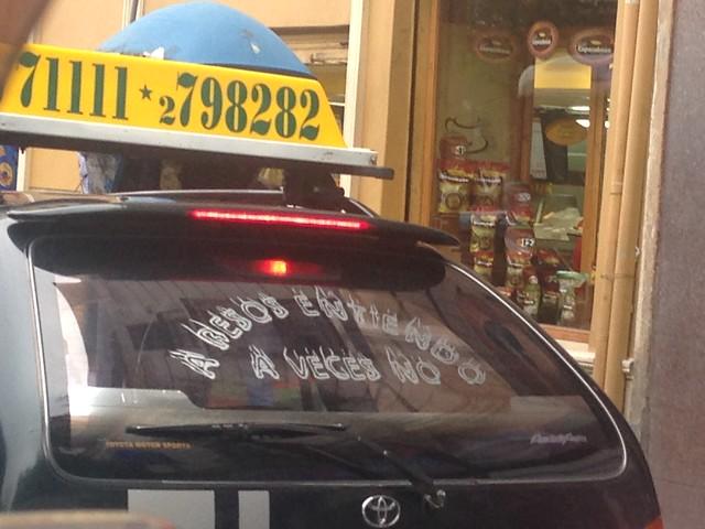 A besos entiendo a veces no. taxi La Paz - Bolivia
