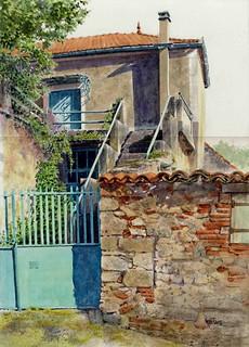 Maison bleue au rocher bah dessin sur place par anticipat flickr - Maison bleue mobel ...