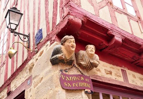 Bretagne 2016 - Vannes (Morbihan) - Vannes et sa femme - Vannes und seine Frau - Foto: Brigitte Stolle 2016