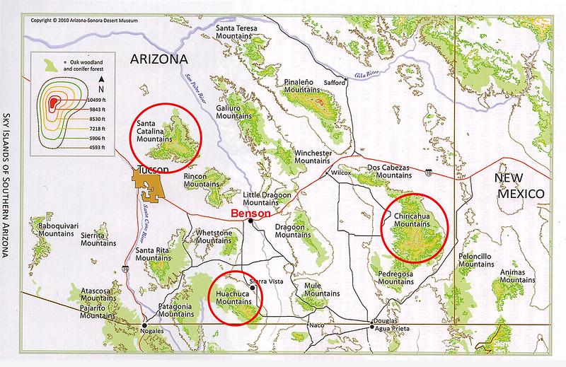 Sky Islands in Southern Arizona