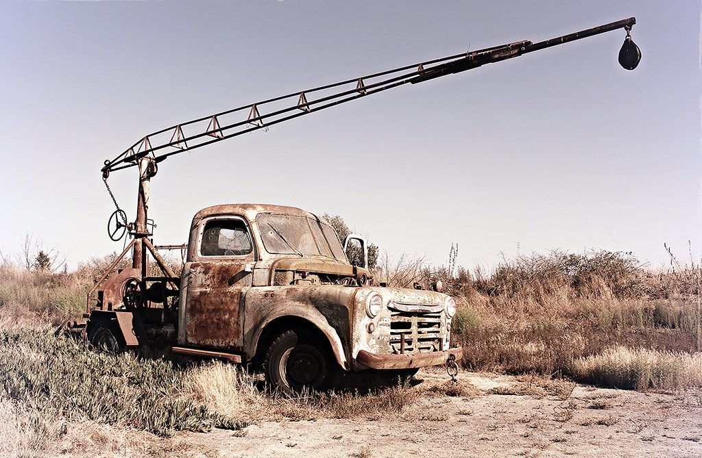 They shoot old trucks don\'t they? | This old truck was used … | Flickr