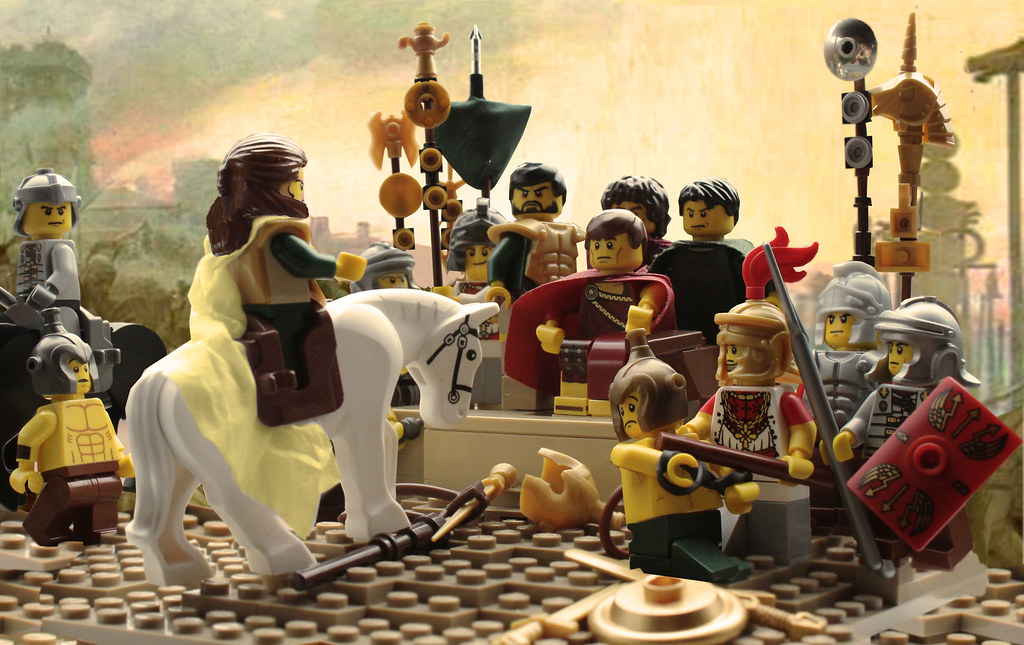 The siege of alesia based off of the painting for Siege lego france
