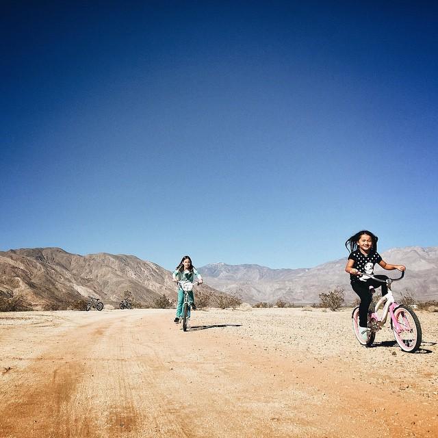 Friends since birth, finally riding bikes together sans training wheels. #littlegauchofriends by malimish_marlene