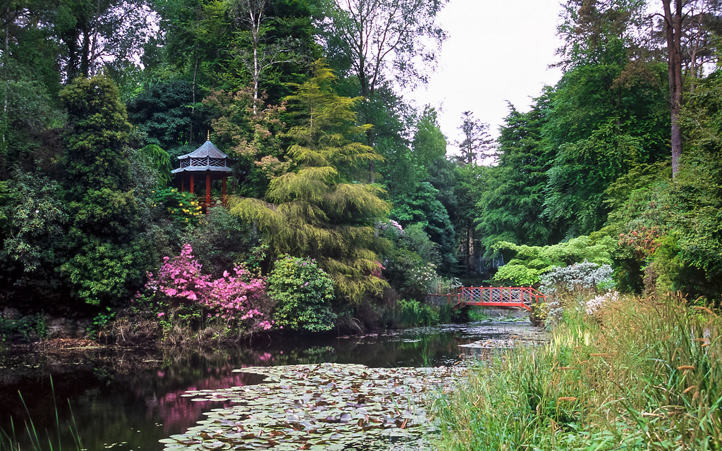 Oriental Pagoda and Bridge, Portmeirion Gardens, North Wal… | Flickr