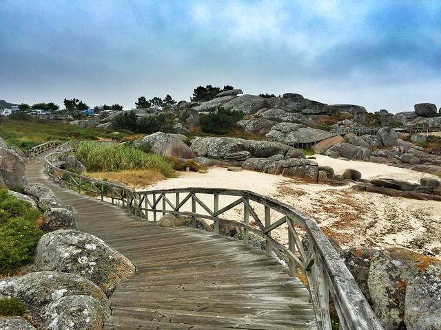 Pasarela de madera de San Vicente do Mar (O Grove, Galicia)