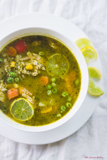 Peruvian Cilantro and Turkey Soup via LittleFerraroKitchen.com | by FerraroKitchen1