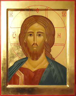 2014 Icône du Christ Pantocrator Sauveur / Christ the Savior Icon - Main de - Hand of : Marlène Absi | by Périchorèse-iconographie