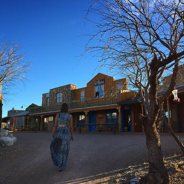 Fake cowboy town next to a real cowboy town #kindof #duderanch by malimish_dan