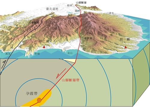 金山平原的山腳斷層位置 陳文山提供