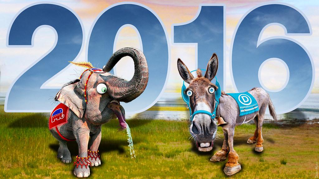 Republican Elephant Democratic Donkey 2016 Full Dress Un Flickr