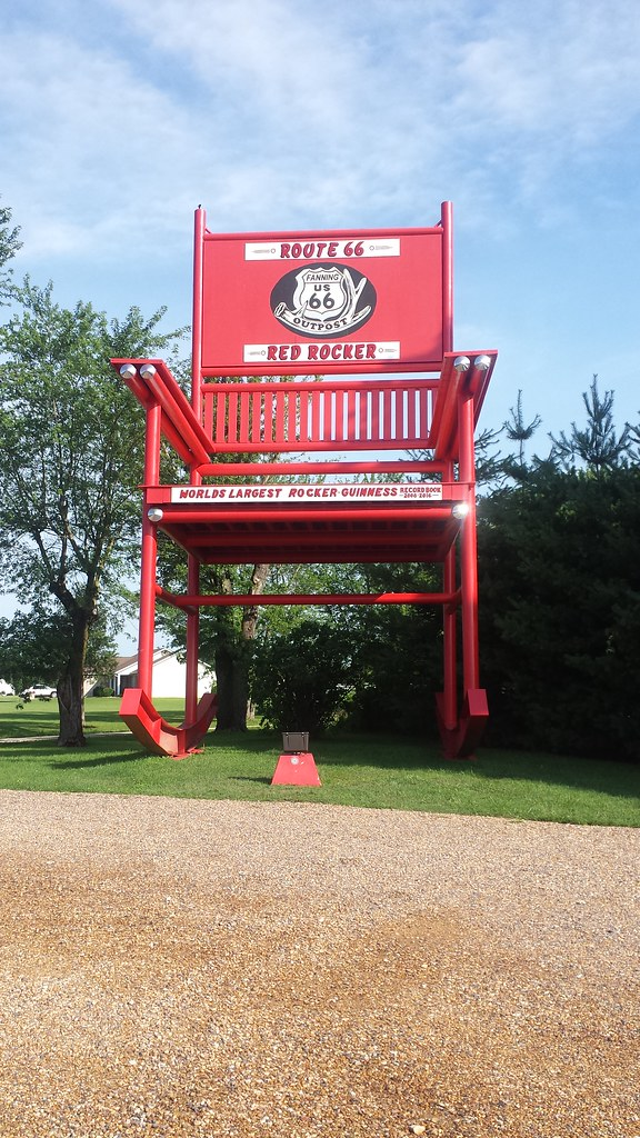 Astounding Red Rocker Worlds Largest Rocking Chair Outside Fannings Alphanode Cool Chair Designs And Ideas Alphanodeonline