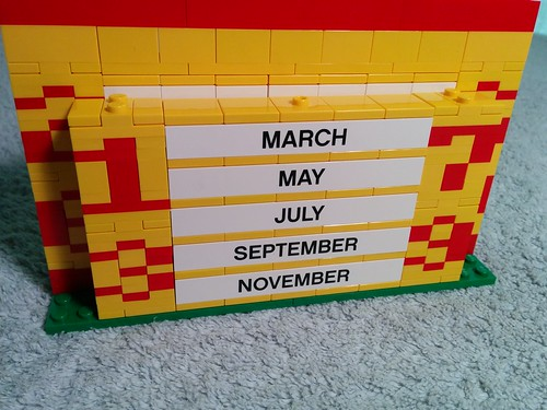 Improved LEGO Calendar Rear