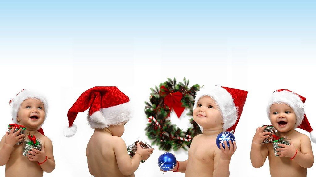 StylishHDwallpapers Cute Christmas Babies Collection HD Wallpaper