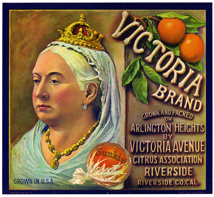 Orange crate label, Victoria Brand, Schmidt Litho. Co . | by California Historical Society Digital Collection