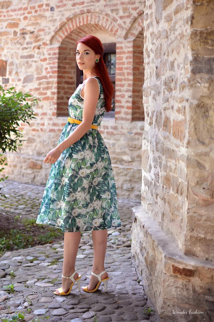 zaful rose dress5