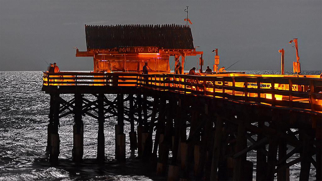 Moonlight fishing cocoa beach pier brian digital flickr for Cocoa beach pier fishing