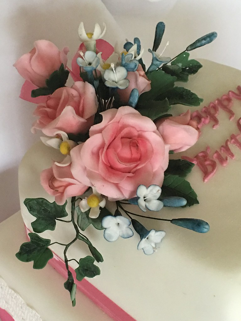 Happy 90th Birthday Detail Of Flower Paste Hand Modelled Flickr