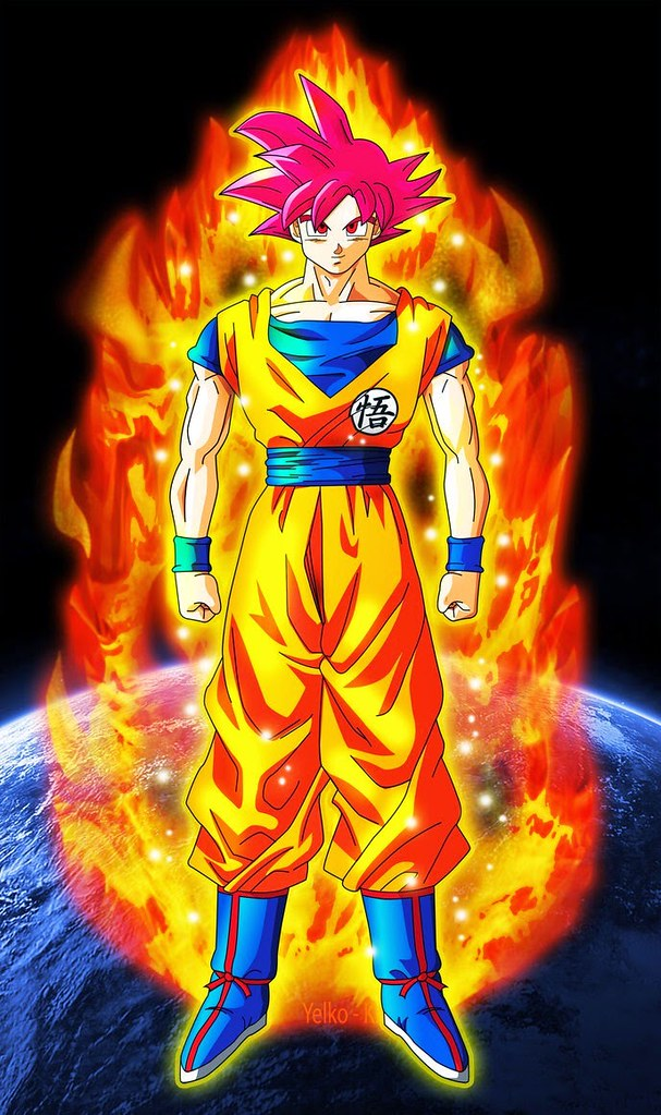 Goko dragonballz dbz animefighting check this out art dr - Sangoku super saiyan god ...